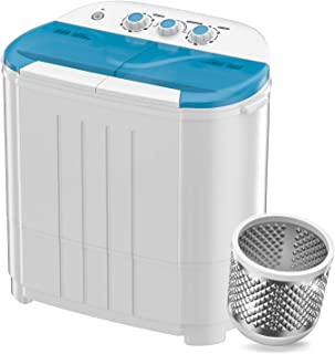 Auertech Mini Washing Machine, Portable Twin Tub Washer Compact Laundry Machine Dryer with Built-in Gravity Drain Time Con...