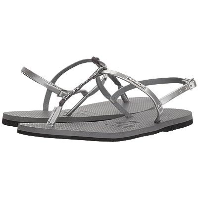 Havaianas You Riviera Crystal Sandals (Steel Grey) Women