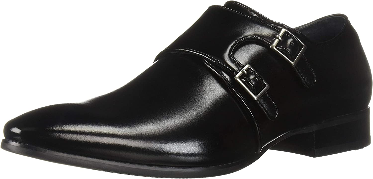 STACY ADAMS Men's Vance Plain Toe Double Monk Strap Dress Loafer