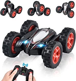 ArgoHome RC Stunt Car RC Car Remote Control Car, 360 Degree Flips Double Sided Rotating Race Car, Remote Controlled Car for Kids, 4WD Monster Truck Tumbling Crawler Vehicle, Best Gift for Kids, Black