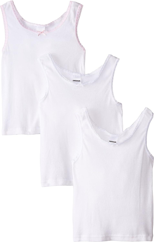 Danawear Little Girls' White 3 Pack Girls Camisole
