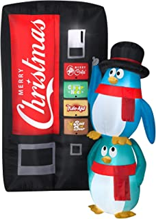 Gemmy 6.5' Airblown Merry Christmas Soda Machine Scene Christmas Inflatable