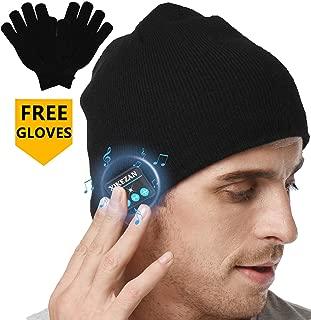 XIKEZAN Bluetooth Beanie Hat w/Headphones Unisex Winter Knit Hats Gifts for Men