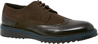 ALEC Mens Ripple Sole Wingtip Shoes Leather Lining & Insole - Runs 1 Size Big