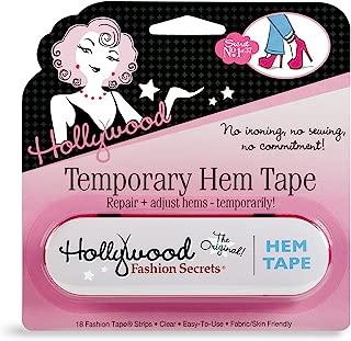 Hollywood Fashion Secrets Temporary Hem Tape, 18 fabric friendly adhesive tape strips