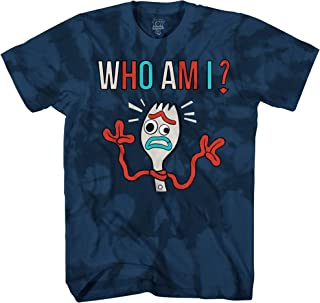 Disney Pixar Toy Story 4 Forky Who Am I Forkie Disneyland World Funny Adult Tee Graphic T-Shirt for Men Tshirt