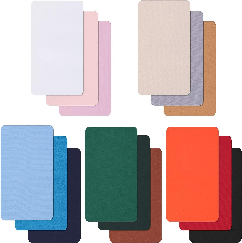 WILLBOND 15 Pi/èces Patchs de R/éparation en Nylon Patch Nylon Auto-Adh/ésif Patches /à Repasser L/égers et Imperm/éables pour V/êtements Doudoune Veste Trous de R/éparation Color/é