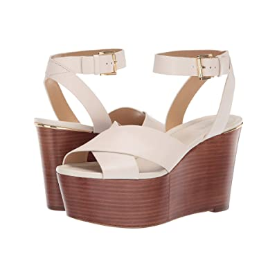 MICHAEL Michael Kors Abbottt Mid Wedge (Light Cream) Women