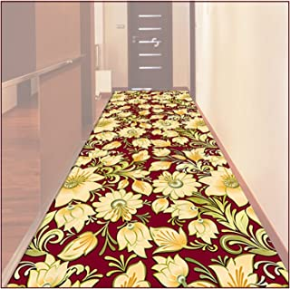 HAIPENG Very Long Runner Rug for Hallway, Floral Pattern Non Slip Durable Entryway Carpet, Kitchen Hall Entrance Front Doo...