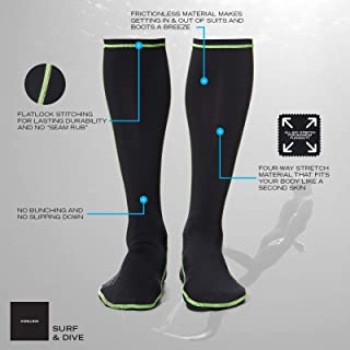 WETSOX Frictionless Wetsuit Boot Socks Slip Easily In/Out of Gear
