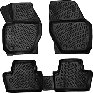 Crocliner Floor Mats Front and Rear All Weather Custom Fit Floor Liner for Volvo S60 / 2011-2018 (Volvo S60 / 2011-2018 (not Compatible with Inscription Models)