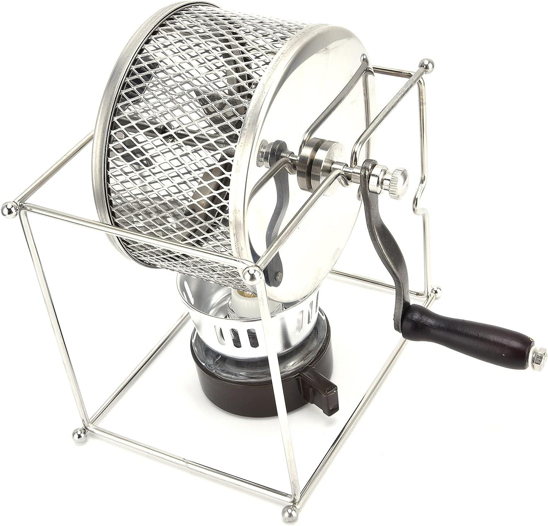 Máquina tostadora de granos, capacidad de horneado precisa Tostadora de café manual Máquina tostadora de café de acero inoxidable para oficina para café para la familia