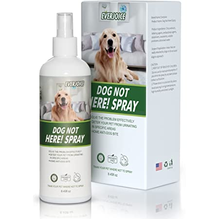 EverJoice Dog Not Here Spray, Training Your Dog Where Not to Urinate, Repellent & Training Corrector Pets Chew Deterrent, Indoor & Outdoor Use, No More Marking Disturb Or Destroy