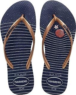 Chinelo Slim Nautical, Havaianas, Feminino