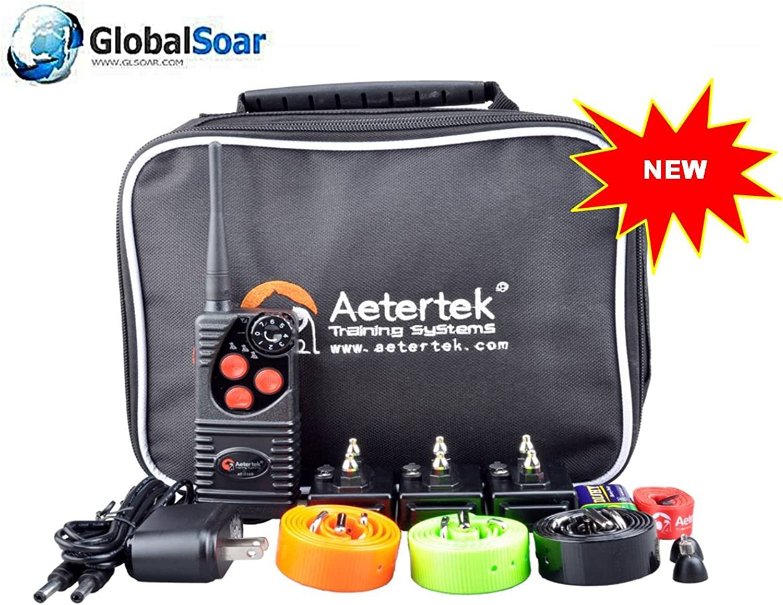 Aetertek 216D550S3 600 Yard 3 Dog Training Anti Bark & Waterproof Collar