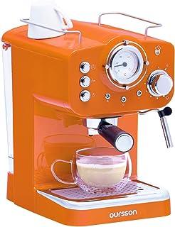 comprar comparacion Oursson Máquina de Café Espresso - Cappuccino, Retro, 15 Bares, Vaporizador Orientable, Capacidad 1.25 l, Café Molido, EM1...