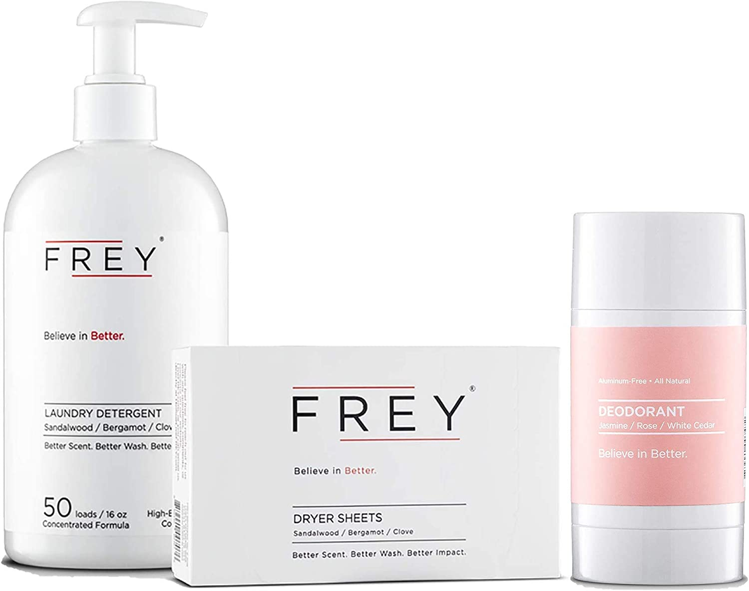 latest FREY New popularity Concentrated Washing Detergent + Natural Clas Dryer Sheets