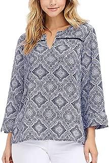 Ladies' 3/4 Sleeve Textured Blouse