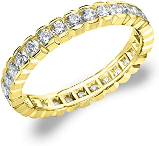 1.0 CTTW Diamond Eternity Ring, 1ct Wedding Anniversary Ring in 10K Gold