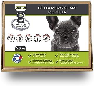 SQUATCH® | Collier Anti Puces pour Chien de 5 à 15 kg | À Base d'Huiles Essentielles | Hypoallergénique, Waterproof et Éco...
