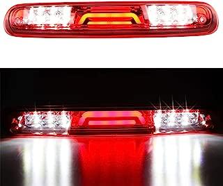 For 2007-2013 Chevy Chevrolet Silverado/GMC Sierra 3D LED Bar 3rd Third Tail Brake Light Rear Cargo Lamp High Mount Stop light Electroplating Housing (Red)
