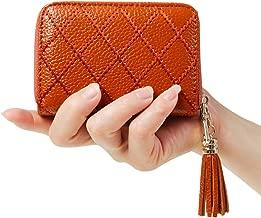 Women's RFID Blocking 15 Slots Card Holder Leather Zipper Accordion Wallet