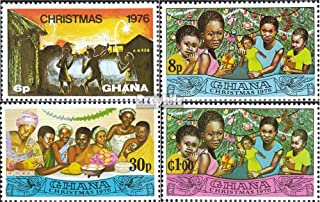 Ghana 670A-673A (Complete.Issue.) 1976 Christmas (Stamps for Collectors) Christmas