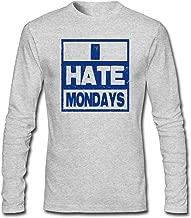 shshiqq Men's I Hate Mondays Long Sleeve T-Shirt