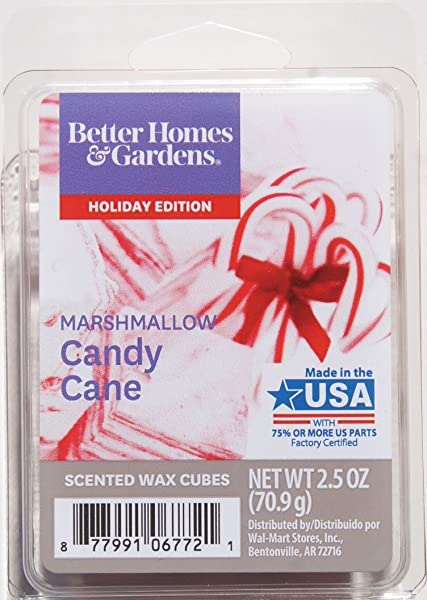 Better Homes And Gardens Marshmallow Candy Cane Wax Cubes
