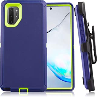 Galaxy Note 10+ Case CaseStro Rugged Series for Samsung Galaxy Note 10+ Plus Case Full Cover Heavy Duty Defender Armor 360 Protection [Shock Proof] with Belt Clip Holster and Kickstand (Blue Lime)
