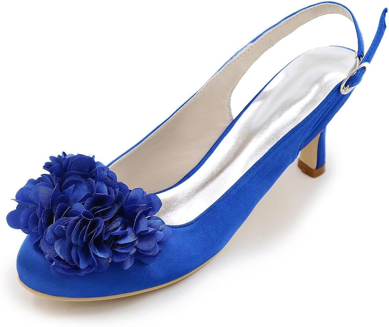 L@YC Women's High Heels Summer Heels Spring Fall Heels Square Toe Silk Wedding Party & Evening