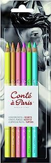 Conté à Paris Bright Hues Pastel Pencil - Assorted Colours (Pack of 6)