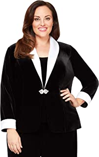 Women's Plus Size Velvet Twinset Jacket and Tank Top