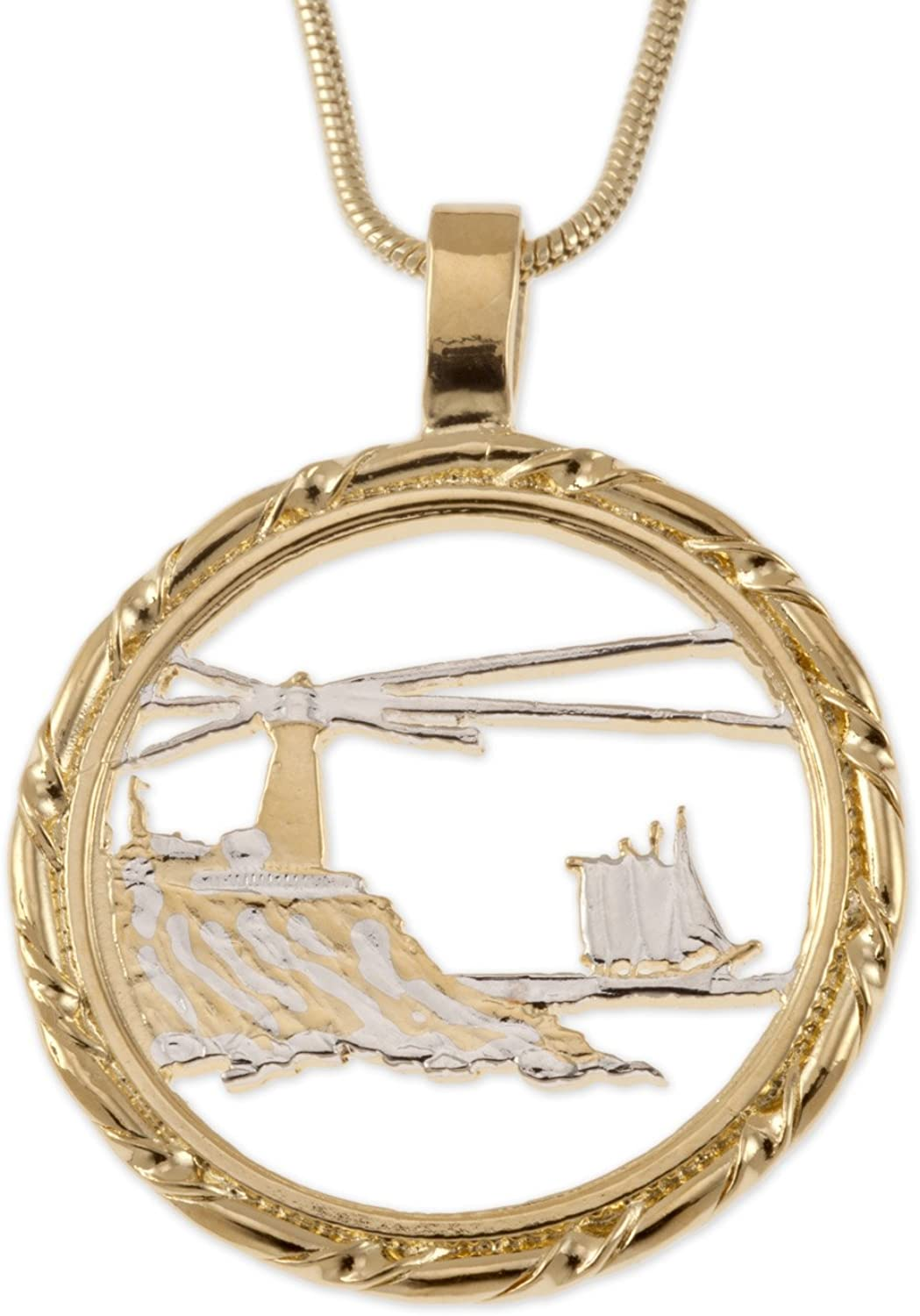 The Difference World Coin Super special price Pendant Jewelry Max 46% OFF Necklace Lighthouse