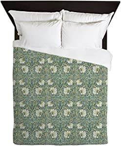 CafePress Morris Pimpernel with Repeats Queen Duvet Cover, Printed Comforter Cover, Unique Bedding, Microfiber