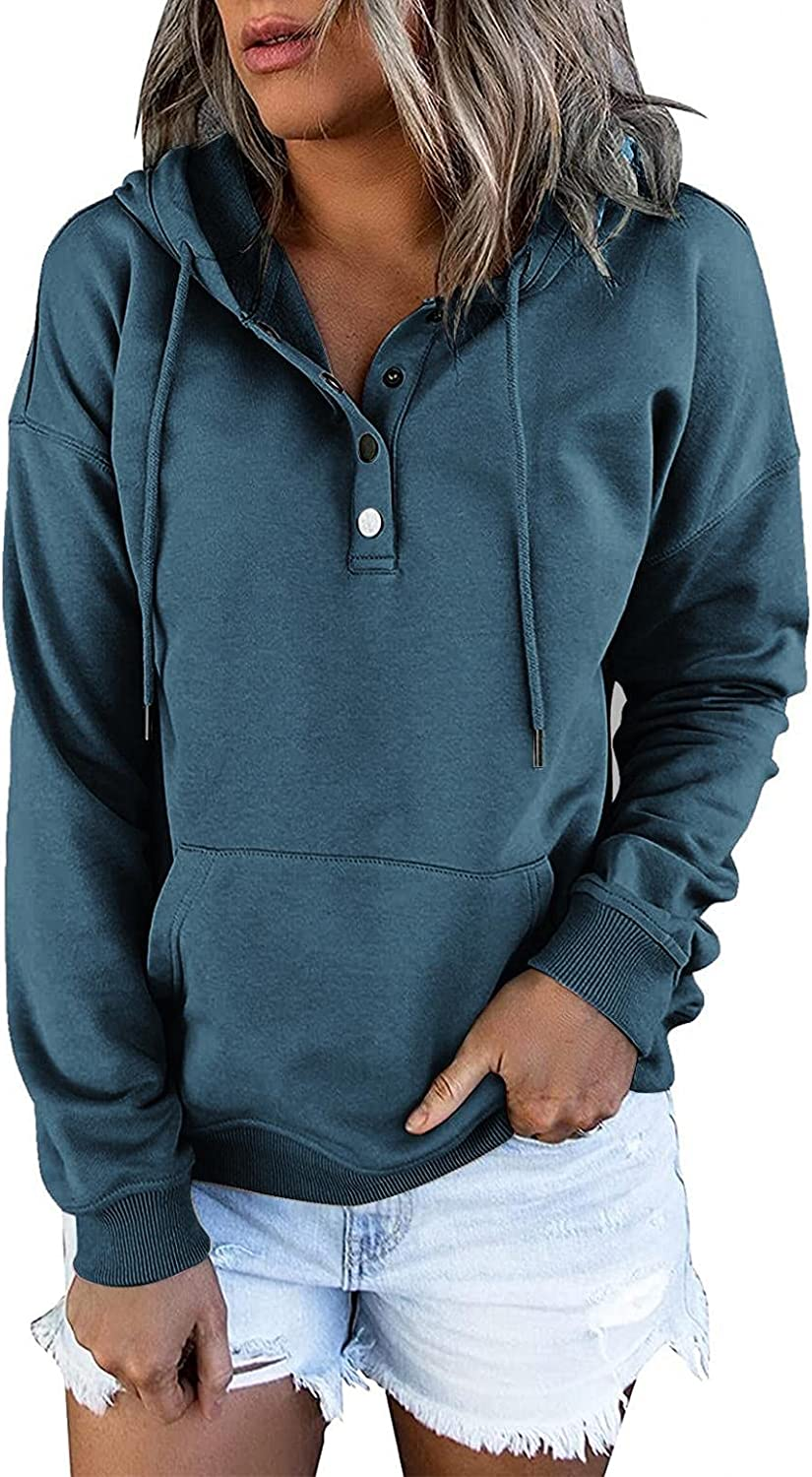 Womens Tops Dressy Casual,Women's Solid Color Hooded Fleece Solid Color Casual Sweaters