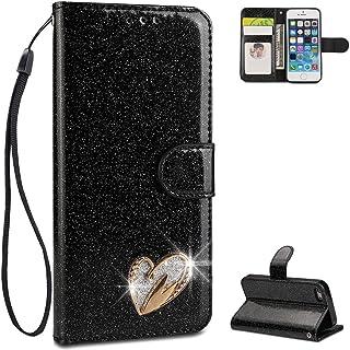 Jinghuash Kompatibel mit iPhone 5S H/ülle,iPhone SE Lederh/ülle PU Leder Flip Case Wallet Brieftasche Klapph/ülle Tasche HandyH/ülle f/ür iPhone 5S//iPhone SE-Katze