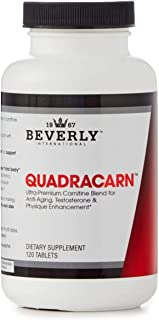 Quadracarn 120 Tablets. 4X-Potency Multi-Carnitine Formula for fat loss, muscle definition, vascularity, testosterone, sex...