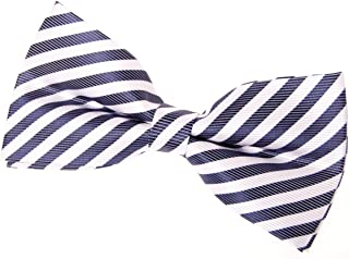 Retreez Striped Woven Pre-tied Bow Tie (5
