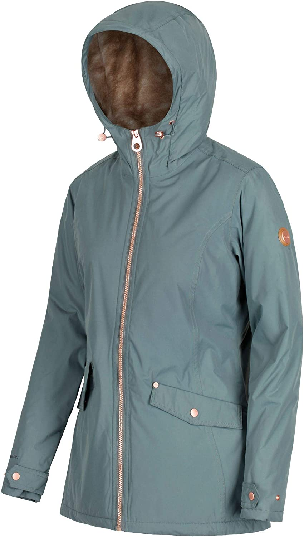 Regatta Damen Bergonia Waterproof Faux Fur Lining Jacket Jacken wasserdicht isoliert Balsam Green