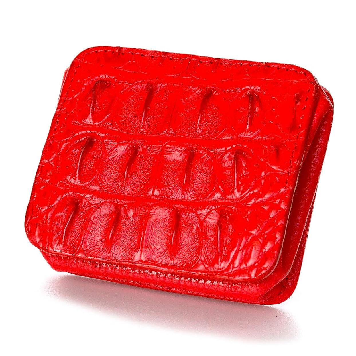 ドラゴンしおれた効果的DaysArt(デイズアート)ワニ皮 本革 クロコダイルコインケース レザーコインケース 小銭入れ 財布 マグネットボタン式