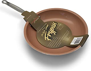 """Ricovero's INDUCTION Gourmet Line, 10.25"""" Dia. Frypan; Hard Anodized 2.5mm Thickness Aluminum with two Copper Ceramic Nons..."""