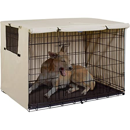 Explore Land Dog Crate Cover Durable Polyester Pet Kennel Cover Universal Fit for 24-48 inches Wire Dog Crate
