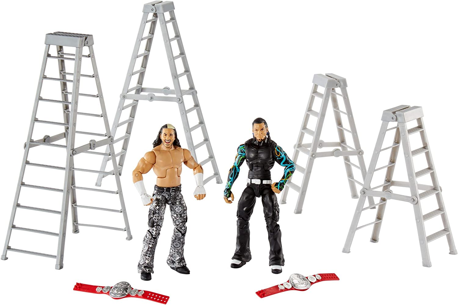 WWE Elite Epic Moment Legends Hardyz Figure, 2 Pack Action