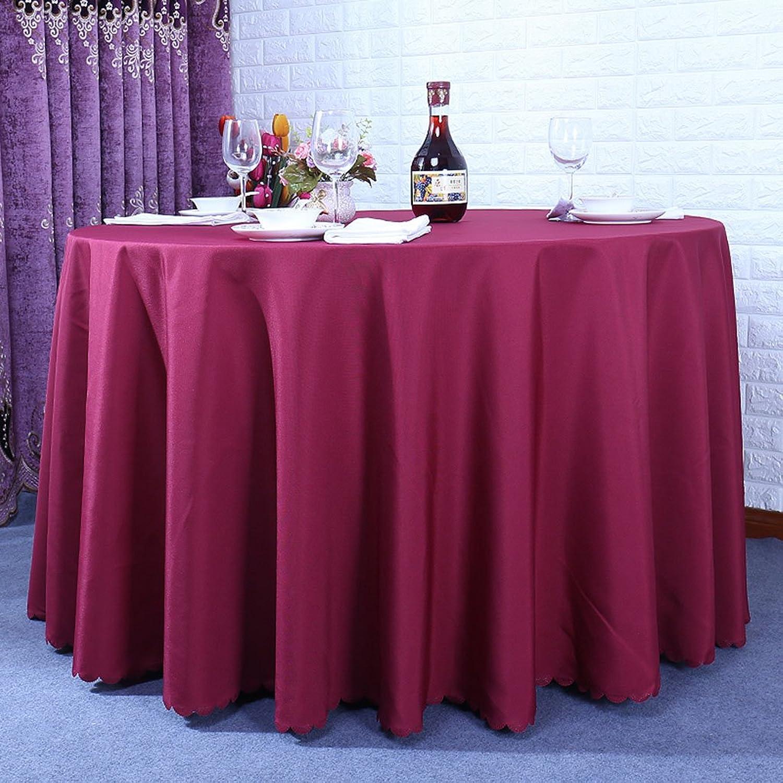Küchenwäsche Runde Tischtücher, Restaurant Hotel Solid Farbe Couchtisch Stofftisch Tischdecke Weiß   Braun   Wein Rot ( Farbe   Weinrot , größe   Round-280cm ) B074MYBJG4 Verkauf Online-Shop   Jeder beschriebene Artikel ist