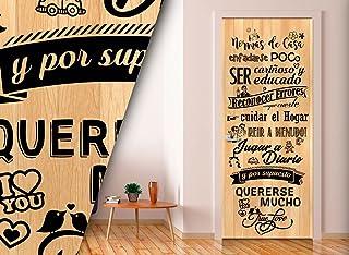 Vinilo para Puerta | Stickers Door | Pegatina Puerta | Normas (204x83)