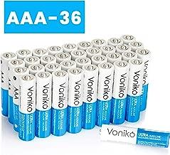 VONIKO Ultra Alkaline Triple A Batteries 36 Pack– Size AAA Batteries – 10 Year Shelf Life & 6-9 Times The Power As Carbon Batteries | AAA 1.5 Volt Battery – Battery Triple AAA | AAA Battery