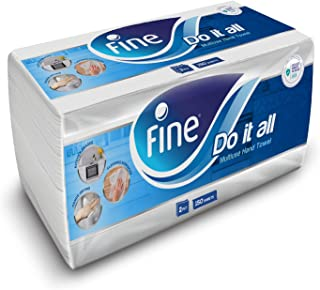 Fine 2X More Absorbent Kitchen Paper Towel Interfolded - 150 Sheets x 2 Ply