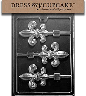 Dress My Cupcake Chocolate Candy Mold, Fleur-De-Lis Lollipop