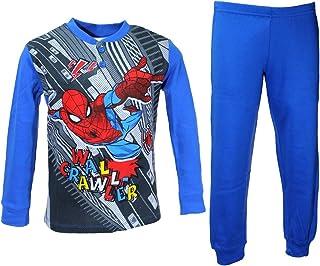 Pijama niño hombre araña Spider Man cálido algodón Interlock 3-4-5-6-7 años 16193